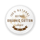 Organic cotton label Royalty Free Stock Images