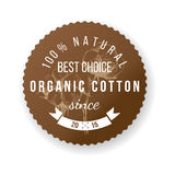 Organic cotton label Royalty Free Stock Photo