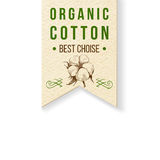 Organic cotton label with type design Stock Images