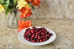 Organic cranberries Royalty Free Stock Photo