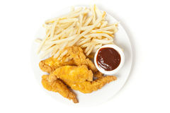 Organic Crispy Chicken Strips Stock Image