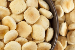 Organic Crunchy Oyster Crackers Royalty Free Stock Photos