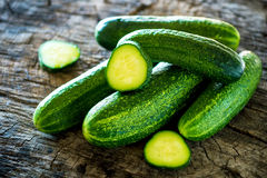 Organic cucumber Stock Images