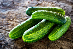 Organic cucumber Royalty Free Stock Images