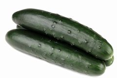 Organic Cucumbers Stock Photos