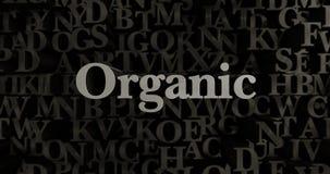 Organic - 3D rendered metallic typeset headline illustration Stock Photos