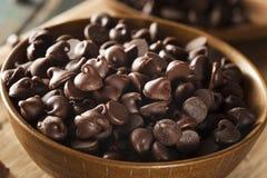 Organic Dark Chocolate Chips Stock Image