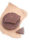 Organic dark chocolate chunk Royalty Free Stock Photos