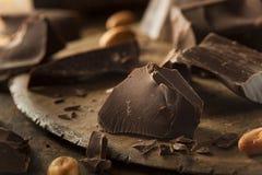 Organic Dark Chocolate Chunks Royalty Free Stock Image