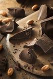 Organic Dark Chocolate Chunks Royalty Free Stock Images