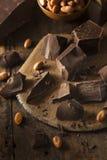Organic Dark Chocolate Chunks Stock Image