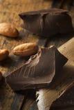 Organic Dark Chocolate Chunks Royalty Free Stock Photography