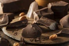 Organic Dark Chocolate Chunks Stock Photography