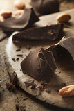 Organic Dark Chocolate Chunks Stock Photo