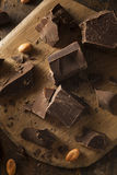 Organic Dark Chocolate Chunks Royalty Free Stock Photo