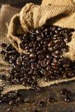 Organic Dark Coffee Beans Royalty Free Stock Photography