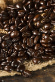 Organic Dark Coffee Beans Royalty Free Stock Photo