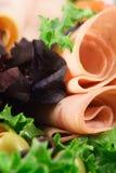 Organic deli meats Royalty Free Stock Photos