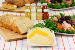 Organic deli platter. Delicious fresh deli platter made with fine meats and fresh vegetables Stock Image