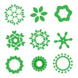 Organic design elements set Stock Photo