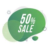 50 discount badge. vector illustration royalty free illustration