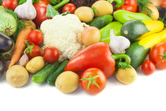 Organic Different Vegetables /  on white background Stock Photos