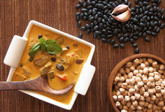 Organic dish with beans Stock Image