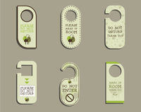 Organic Door knob or hanger sign set- do not Royalty Free Stock Images