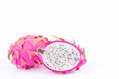 Organic dragon fruit dragonfruit or pitaya on white background healthy dragon fruit food isolated Stock Images