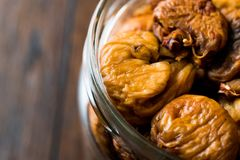 Organic Dried Figs in a jar Royalty Free Stock Photos