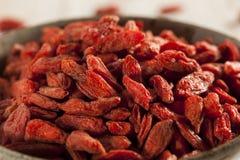 Organic Dried Goji Berries Stock Photo