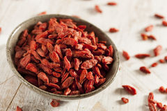 Organic Dried Goji Berries Royalty Free Stock Images