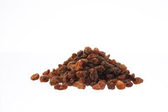 Organic dried raisins in a pile isolated on white Stock Photo