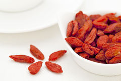 Organic dried Tibetan goji berries Royalty Free Stock Images