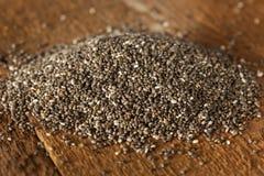 Organic Dry Chia Seeds Stock Photography