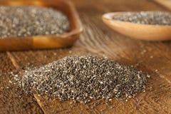 Organic Dry Chia Seeds Royalty Free Stock Image