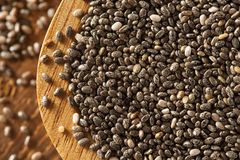 Organic Dry Chia Seeds Royalty Free Stock Photography