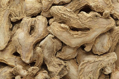Organic dry Ginger root or Sonth (Zingiber officinale). Royalty Free Stock Photo