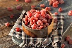Organic Dry Sugared Strawberries Royalty Free Stock Photos