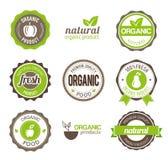 Organic Eco Badges Royalty Free Stock Photos