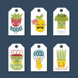 Organic, eco and bio food labels set. Royalty Free Stock Photos