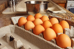 Organic eggs Royalty Free Stock Images