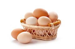 Organic eggs Stock Photography