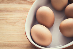 Organic eggs, clean eating concept Royalty Free Stock Photos