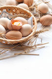 Organic eggs for Easter Royalty Free Stock Photography