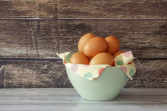 Organic eggs. Royalty Free Stock Images