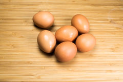 Organic eggs from happy chickens Stock Image