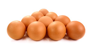 Organic eggs isolated on white background. Eggs isolated on white background royalty free stock images