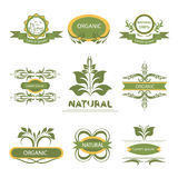 Organic elements, labels, logo Royalty Free Stock Photo