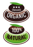 Organic.eps. Label organic and natural products Royalty Free Stock Image
